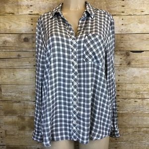 Universal Thread Plaid Button Up Long Sleeve XL